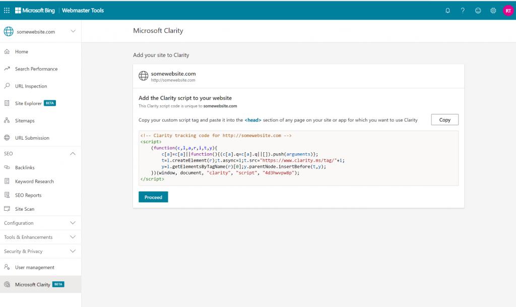 Công cụ quản trị trang web Bing nhận được các tính năng từ Microsoft Clarity